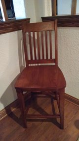 2 Solid Wood Bar Height Chairs - Like New, Never Used in Joliet, Illinois