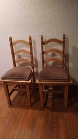 2 Like New Solid Wood Chairs in Joliet, Illinois