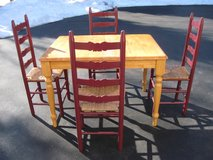 Table & 4 Ladder back Chairs in Naperville, Illinois