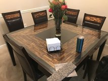 Inlet Glass Table w/chairs (Price Reduced) in Fort Benning, Georgia
