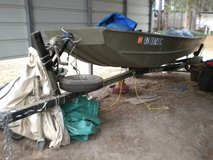14' Jon Boat, Trailer and Motor in DeRidder, Louisiana