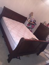 sleigh bed and nightstand in Spring, Texas