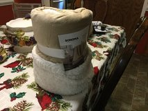 Sonoma Sherpa throw blanket still in package in Camp Lejeune, North Carolina