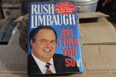"Rush Limbaugh "" See I Told You So"" Hard Cover in Alamogordo, New Mexico"