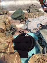 Lots of Military Clothing in Fort Benning, Georgia