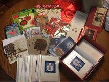 assorted Christmas cards, bags, gift bag tissue paper and gift tags in Okinawa, Japan