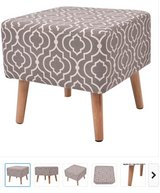 NEW pair ottomans morrocan pattern grey/ivory stools seats in Spring, Texas