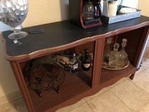 Rehabbed Foyer Coffee bar table in Oceanside, California