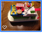 Vintage Fisher Price Houseboat and accesories in Plainfield, Illinois