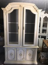 Versatile cabinet: this piece can be used as a China cabinet, and R Miller and a entertainment/m... in Fort Benning, Georgia