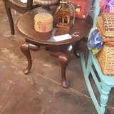 Antique Solid Wood Side Table with Drawer in Spring, Texas