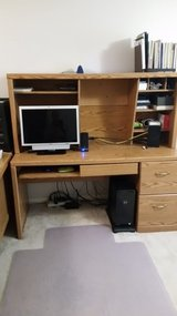 Large Computer desk with hutch in Spring, Texas