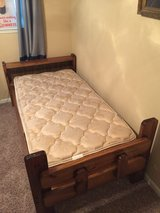 2 twin beds with mattresses in Spring, Texas