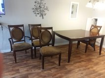 Dining Table with 5 chairs and leaf in Fort Rucker, Alabama
