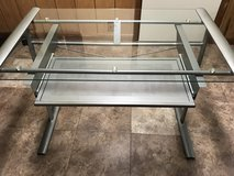 Metal and glass desk in Orland Park, Illinois