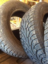 "225.75X16"" studded tires 4 $125 in Fort Leonard Wood, Missouri"