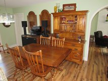 Tommy Bahama Style Table & Chairs, 2 Leaves, China Cabinet Hutch~Solid Maple in Beaufort, South Carolina