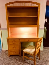 2 - Student Desk w Hutch by Stanley Furniture Solid Wood in Natural Maple in Oswego, Illinois
