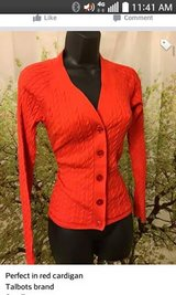 Red Cardigan SZ Small in Lackland AFB, Texas