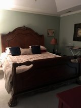 King cherry sleigh bed in Greenville, North Carolina