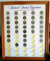 U.S. STATE QUARTERS IN FRAME in Bartlett, Illinois