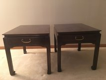 Oriental-style end tables - discount available in Naperville, Illinois