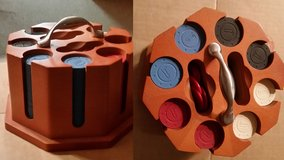 Poker Chip set in Wood Holder in Naperville, Illinois