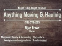 Anything Moving & Hauling Service in Fort Campbell, Kentucky