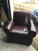 Brown Faux Leather Chair in Camp Lejeune, North Carolina