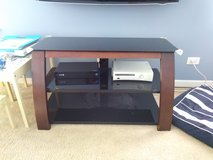 Glass TV Stand in Oswego, Illinois