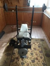 Weight Bench & 130lbs of weights in Ramstein, Germany