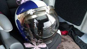 Motorcycle Helmet Red White and Blue Size Large in Okinawa, Japan