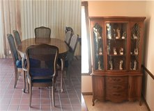 Dining Room Table, 6 Chairs & Matching Hutch in Springfield, Missouri