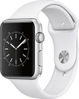 ***Apple Watch Aluminum Case with White Sport Band - Silver*** in Katy, Texas