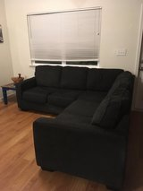 Black sectional couch in El Paso, Texas