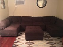 Brown 7 piece sectional in Wheaton, Illinois