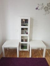 Ikea tables and display case in Stuttgart, GE