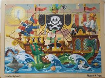 Puzzle - Melissa and Doug (Pirate / Wooden) in Schaumburg, Illinois