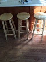 Real wood stools like new in Fort Benning, Georgia