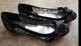 Black Lace Slip-on Shoes - White House Black Market in Schaumburg, Illinois