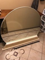 Modern White Lacquer Base Dresser Mirror in Kingwood, Texas