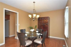 Dining Room Glass Pedestal Table w/Matching 4 Leather Chairs in Fort Campbell, Kentucky