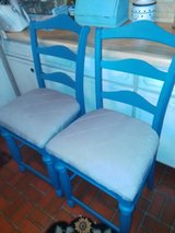 Refinished solid wood barstools in Fort Benning, Georgia