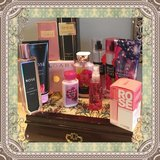 Rose/ flower scented perfumes and lotions lot in Warner Robins, Georgia