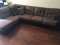 L shaped couch and double recliner in Beaufort, South Carolina