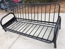 Heavy duty futon w/black mattress in Fort Riley, Kansas