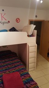 Girl's Bedroom Set (Bunk Beds, Dresser, Night Stand (not pictured), and 2 Mattresses) in Ramstein, Germany