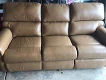 New Leather 3 seat Reclining couch in Lockport, Illinois