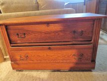 BEAUTIFUL ANTIQUE TIGER OAK 2 DRAWER CHEST in Naperville, Illinois