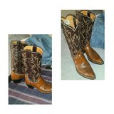 Justin Womens Leather Cowboy Boots in Yucca Valley, California